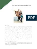 Características de Las Migraciones Internas en El Perú en Los Últimos 50 Años
