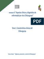 Cap II Tema i Caracteristicas Clinicas Del Chikungunya
