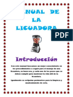 manual de la licuadora