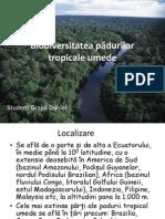 Biodiversitatea Pădurilor Tropicale Umede