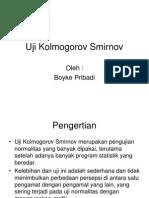 Uji Kolmogorov Smirnov