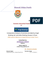 Summer Intership Report on Angel Broking Ltd PUNE