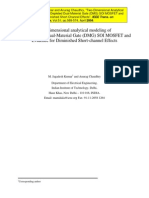 Two-Dimensional Analytical Modeling of Fully Depleted Dual-Material Gate (DMG) SOI MOSFET and Evidence for Diminished Short-Channel Effects