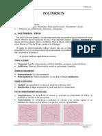 clasificación de polimeros, Tipos.