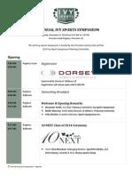 2014 Ivy Sports Symposium Agenda
