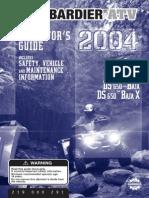 ATV Bombardier 650 Manual de usuario
