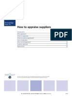 How to Appraise Suppliers