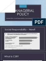 Managerial Policy