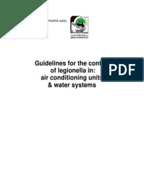 Dubai Municipality Guidlines for the Control of Legionella