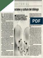 Conflictos Sociales y Cultura de Diálogo
