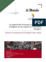 """Sondage IFOP pour """"Le Monde"""" et la Fondation Jean-Jaurès"""