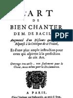 16407904 LArt de Bien Chanter Benigne de Bacilly