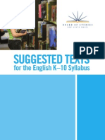 English k10 Suggested Texts
