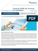 Design of Experiments (DOE) for Process Development and Validation