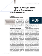 A Simplified Analysis of the Broadband Transmission Line Transformer