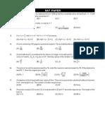NTSE Stage I (SAT) Mock Test
