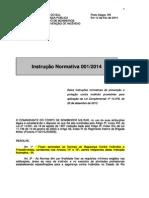 Instrucao Normativa 001 2 Norma Bombeiros Rs