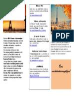 Brochure Touristique Paris