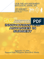 50th Postgraduate Course Souvenir Programme of the UP-PGH Department of Surgery