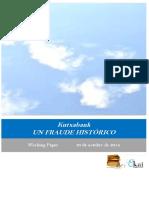 Kutxabank. UN FRAUDE HISTÓRICO