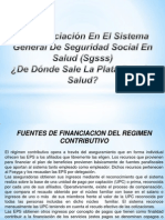 financiación del SGSSS