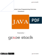 20 Most Important Java Programming Interview Questions