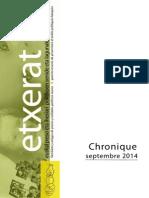 Chronique Septembre 2014