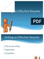 Writing an Effective Resume (1)