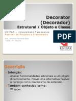 Padrões de Projetos - Decorator