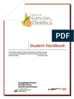 DPD Student Handbook, Updated May 2015