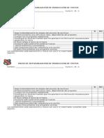 Pauta de Autoevaluación de Producción de Textos