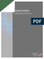 Term Paper on E-governanace