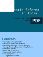 Economic Reforms in India (1990-2008)