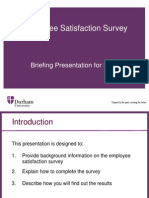 Briefing Presentation for Staff