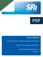 Ficha Tecnica Comprobantes Electronicos SRI