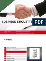 Business Etiquette Lesson 1