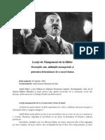 Lecție de Mangement de la Hitler