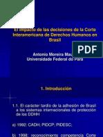 El impacto de las decisiones de la  Corte Interamericana de Derechos  Humanos en Brasil