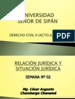 Semana 02 (Rel. y Sit. Jurid) - Civil II