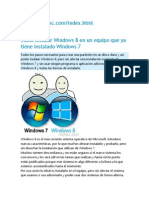 Como Instalar Windows 8 en Un Equipo Que Ya Tiene Instalado Windows 7