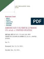 American Column & Lumber Co. Et Al. v. United States.