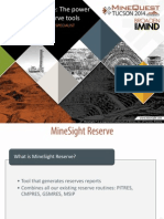 MineSight Reserve-The Power of Specialized Reserves Tool
