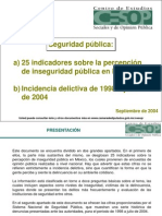 25 Indicadores Sobre Inseguridad Publica [Reparado]