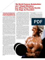 FREE REPORT by World Famous Bodybuilder Reveals 7 Stupid Mistakes