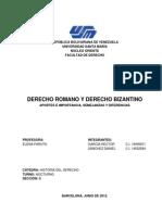 DERECHO ROMANO Y DERECHO BIZANTINO.docx