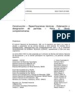 NCh 1156-5.Of1999 Construccion - Especificaciones tecnicas - Ordenacion y designacion de Partidas.pdf