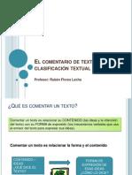 2o ESO - El Comentario de Texto y La Clasificación Textual