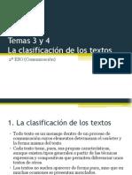 2o ESO - Comunicación Tema 03 y 04 (La Clasificación Textual)