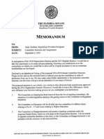 Florida Senate Committee Structure and Assignments