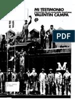 Mi Testimonio, Memorias de Un Comunista Mexicano - Valentín Campa